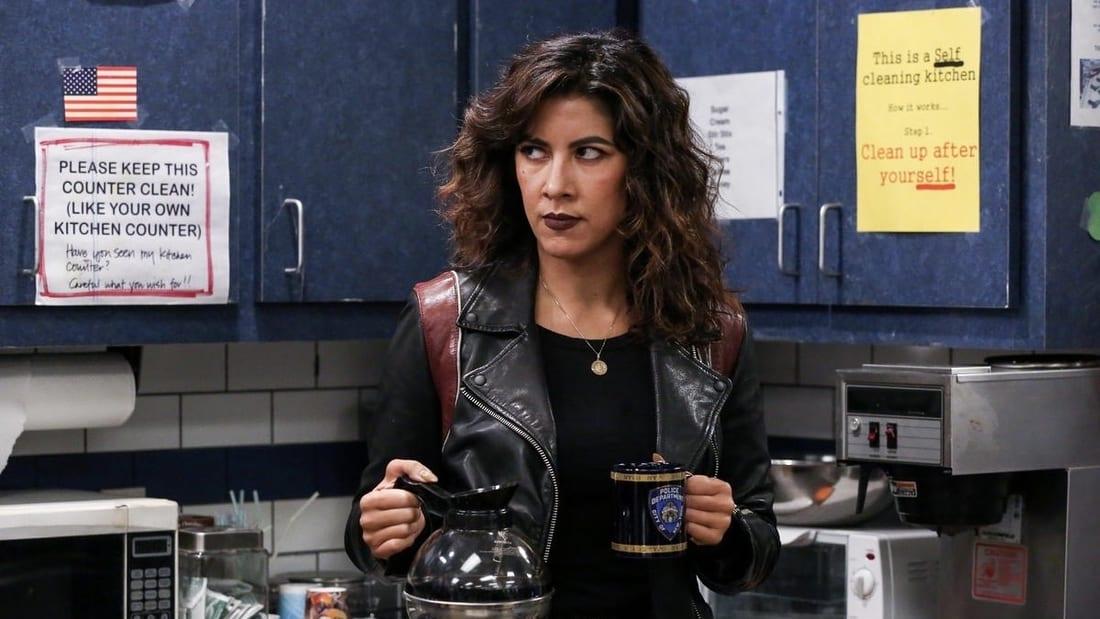 Rosa Diaz (Stephanie Beatriz) in the NBC sitcom Brooklyn Nine-Nine.