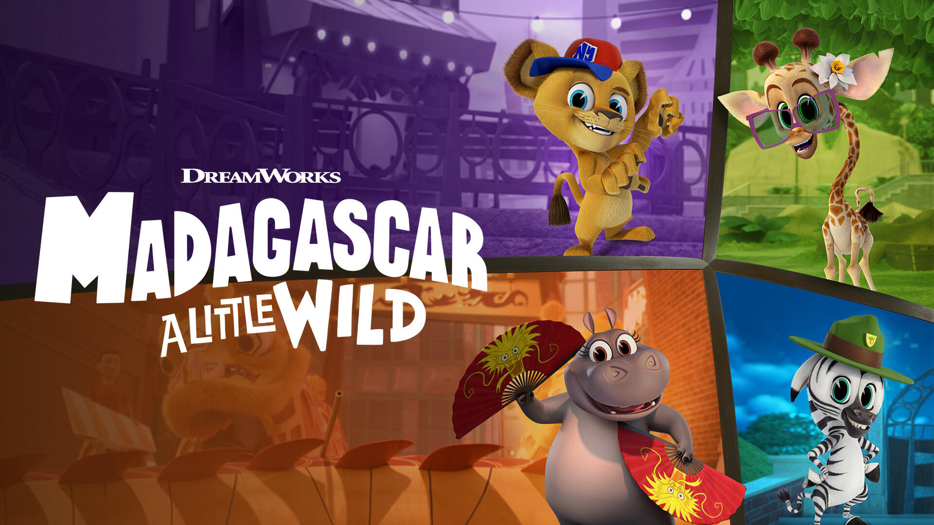 Madagascar: A Little Wild -- Fearless pals Alex, Marty, Melman and Gloria are back with even bigger adventures in their concrete jungle of New York City. Melman loses his first tooth, Gloria plans a flashy production for a shy hermit crab with a secret talent, and a snowstorm hits the city and blocks Kate from the habitat. (Courtesy of DreamWorks)