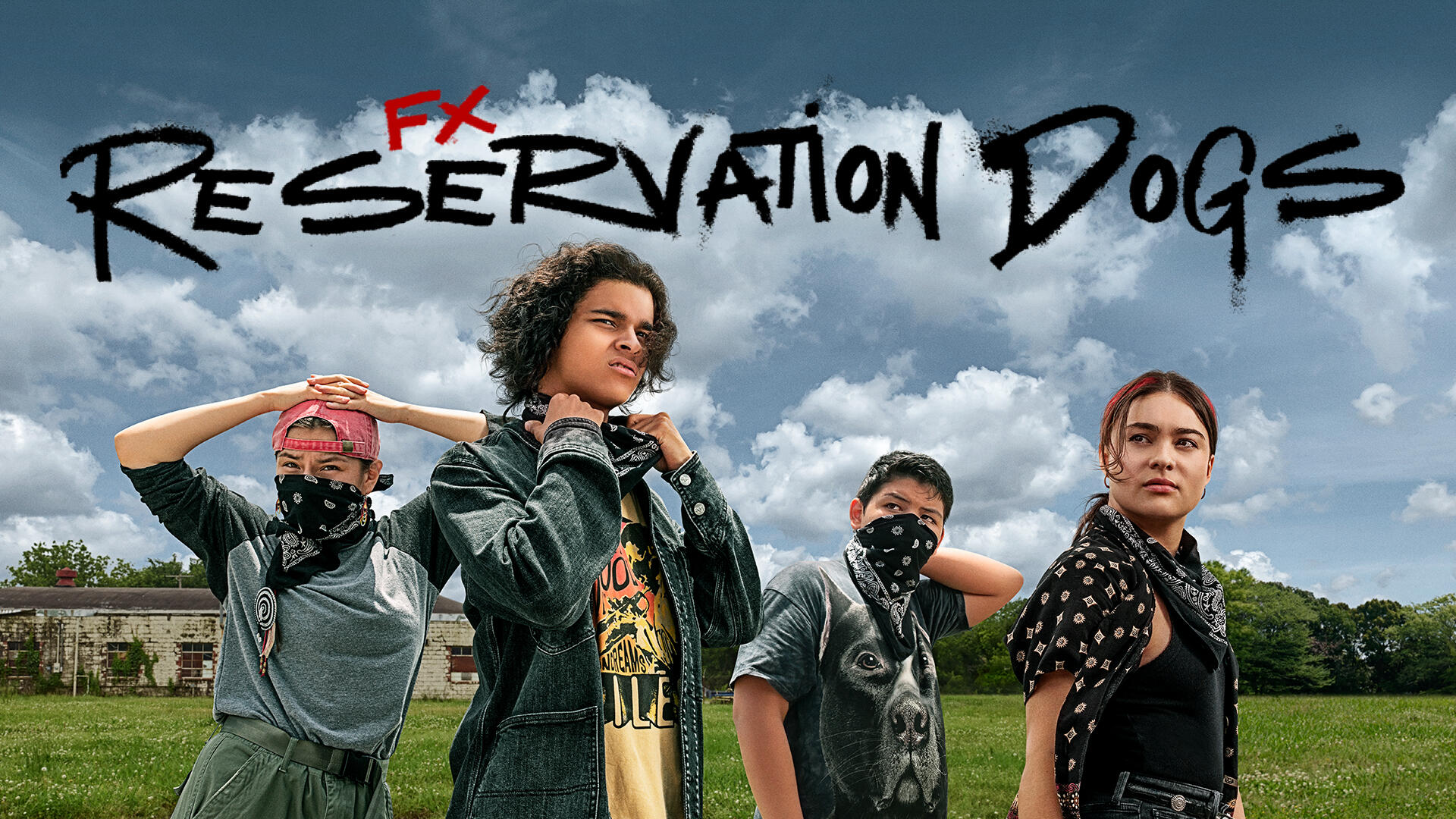 Reservation Dogs -- From Co-Creators and Executive Producers Sterlin Harjo and Taika Waititi, Reservation Dogs is a half-hour comedy that follows the exploits of four Indigenous teenagers in rural Oklahoma who steal, rob and save in order to get to the exotic, mysterious and faraway land of California. Bear (D'Pharaoh Woon-A-Tai), Elora (Devery Jacobs), Willie (Paulina Alexis) and Cheese (Lane Factor), shown. (Photo Courtesy of FX on Hulu)