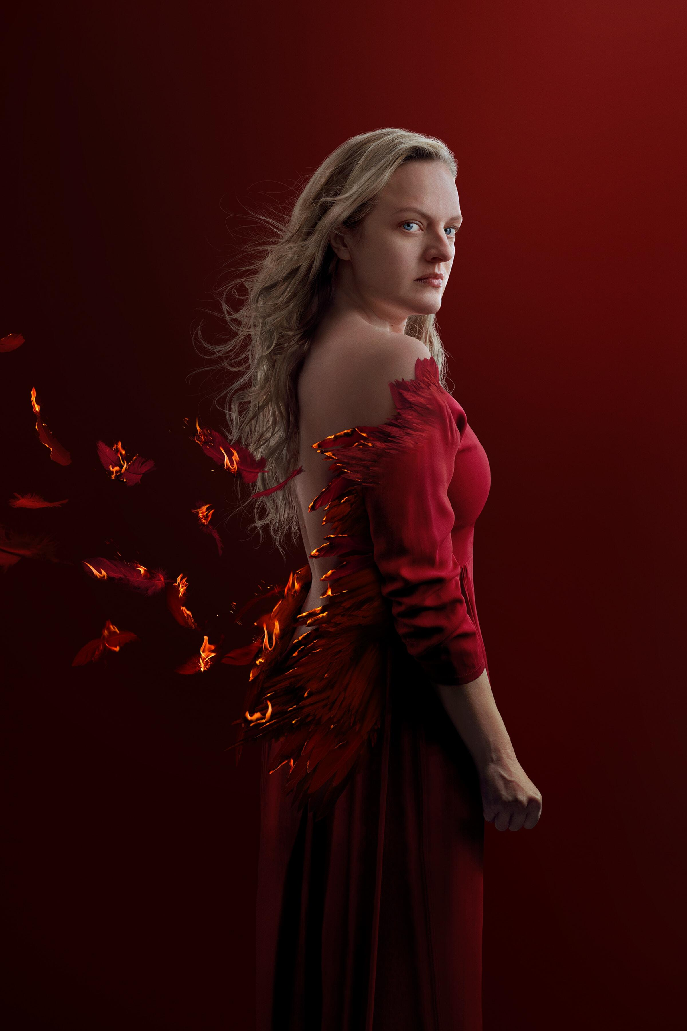The Handmaid's Tale -- In the upcoming fourth season of The Handmaid's Tale, June (Elisabeth Moss) strikes back against Gilead as a fierce rebel leader, but the risks she takes bring unexpected and dangerous new challenges. Her quest for justice and revenge threatens to consume her and destroy her most cherished relationships. June (Elizabeth Moss), shown (Photo by: Robert Ascroft/Hulu)