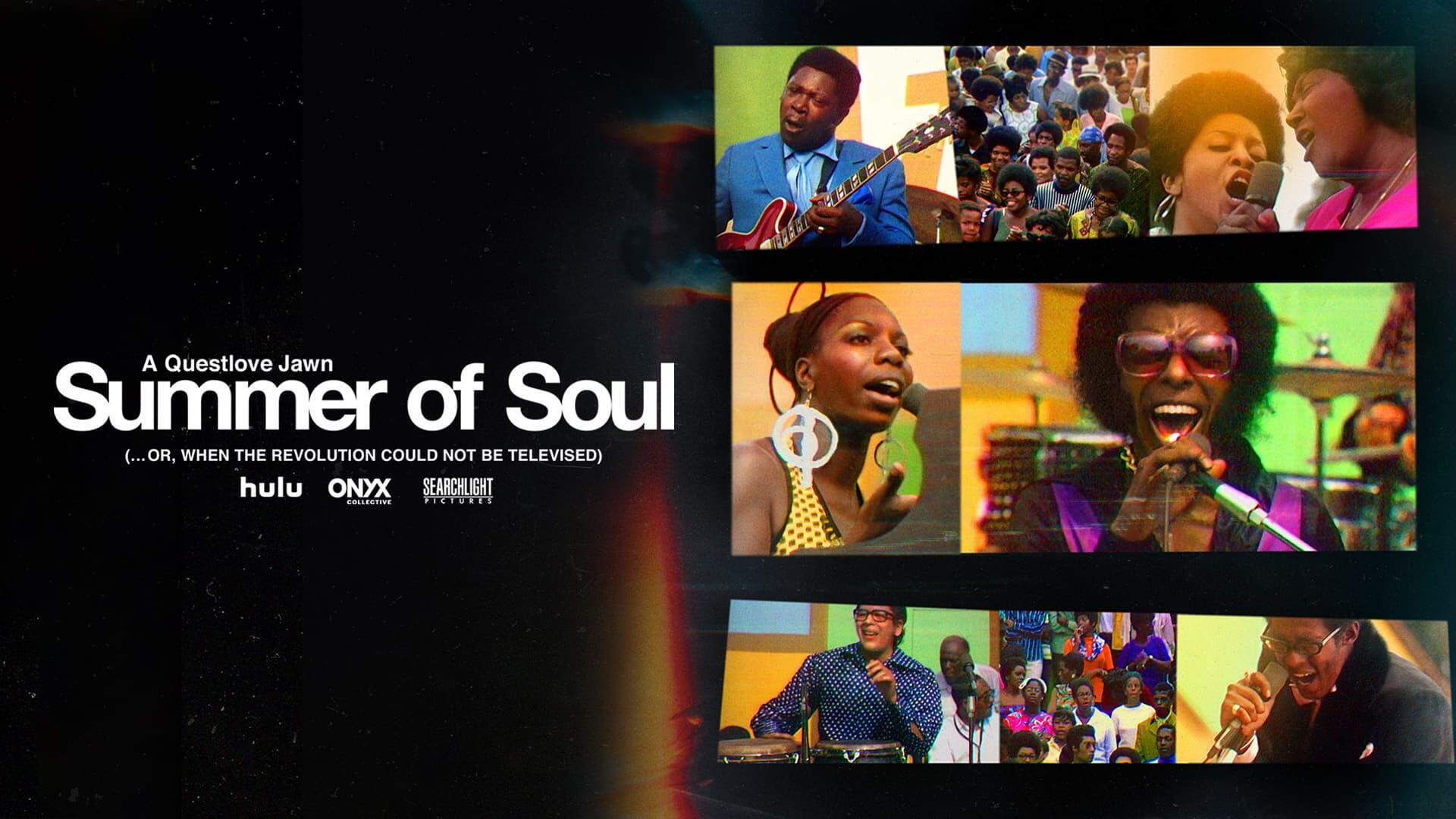 """Summer of Soul -- In his acclaimed debut as a filmmaker, Ahmir """"Questlove"""" Thompson presents a powerful and transporting documentary—part music film, part historical record created around an epic event that celebrated Black history, culture and fashion. Over the course of six weeks in the summer of 1969, just one hundred miles south of Woodstock, The Harlem Cultural Festival was filmed in Mount Morris Park (now Marcus Garvey Park). The footage was never seen and largely forgotten–until now. SUMMER OF SOUL shines a light on the importance of history to our spiritual well-being and stands as a testament to the healing power of music during times of unrest, both past and present. The feature includes never-before-seen concert performances by Stevie Wonder, Nina Simone, Sly & the Family Stone, Gladys Knight & the Pips, Mahalia Jackson, B.B. King, The 5th Dimension and more. """"Summer of Soul (…Or, When the Revolution Could Not Be Televised),"""" A Vulcan Productions Inc. Production, In Association With Concordia Studio, Play/Action Pictures, LarryBilly Productions, Produced by Mass Distraction Media and RadicalMedia, is directed by Ahmir """"Questlove"""" Thompson, and produced by Joseph Patel p.g.a., Robert Fyvolent p.g.a., and David Dinerstein p.g.a. Jen Isaacson, Jon Kamen, Dave Sirulnick, Jody Allen, Ruth Johnston, Rocky Collins, Jannat Gargi, Beth Hubbard, Davis Guggenheim, Laurene Powell Jobs, Jeffrey Lurie, Marie Therese Guirgis, David Barse, Ron Eisenberg, Sheila C. Johnson and Ahmir """"Questlove"""" Thompson are executive producers. (Courtesy of Searchlight Pictures)"""