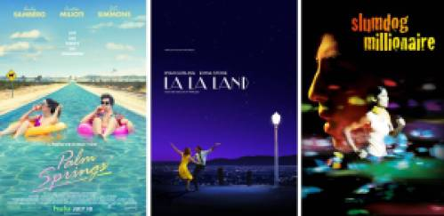 Title art for the best romance movies on Hulu