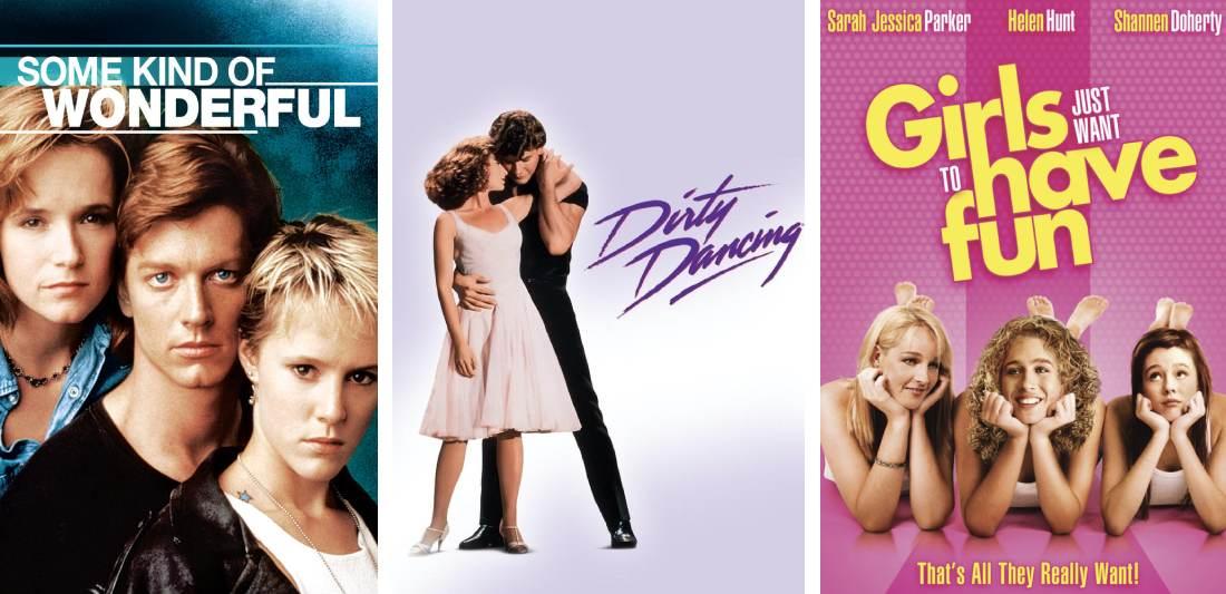 Title art for classic romance movies on Hulu