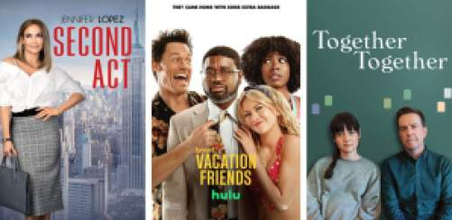 title art for rom-coms on Hulu