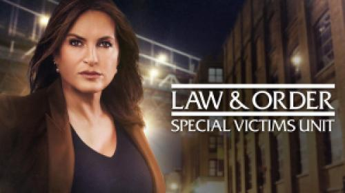 title art for the hit NBC drama Law & Order: SVU.