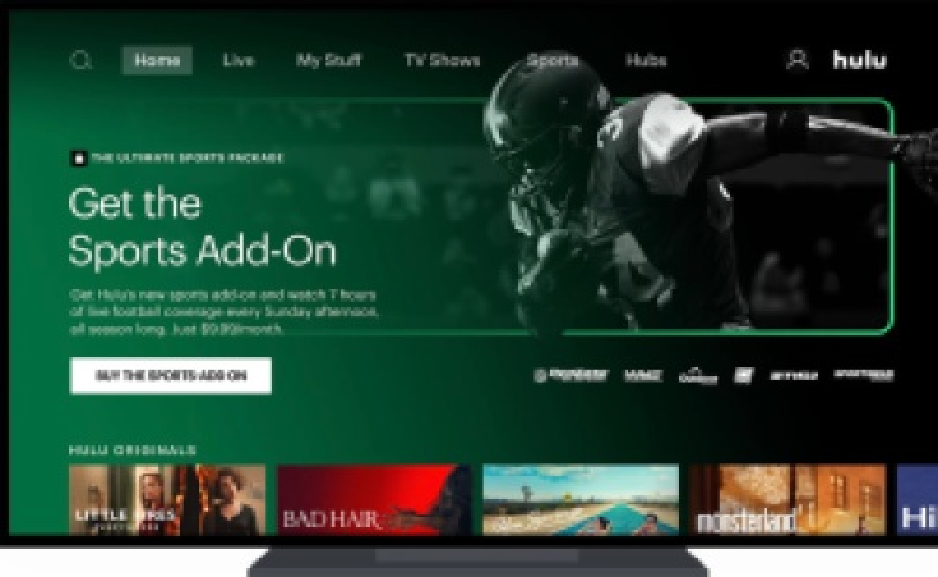 Sports Add-On on Hulu.