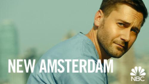 title art for the NBC medical drama series New Amsterdam.