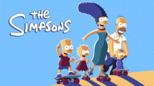 title art for the FOX comedy series The Simpsons