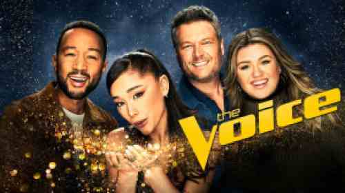 title art for the NBC competition series The Voice.