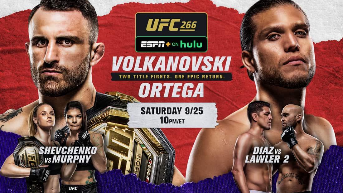 title art for UFC 266: Volkanovski vs. Ortega