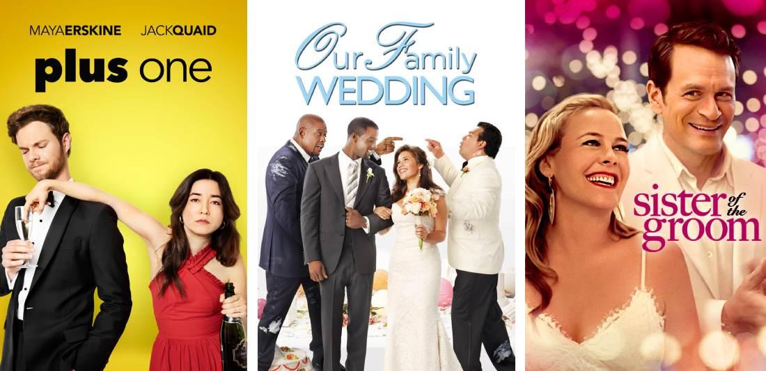 Title art for wedding romance movies on Hulu
