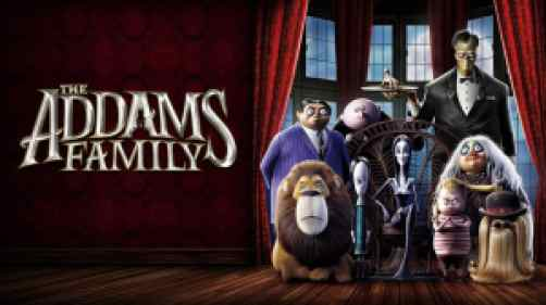 title art for the animated film, The Addams Family.
