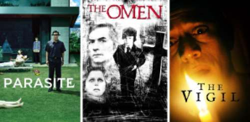 Title art for the best horror movies on Hulu