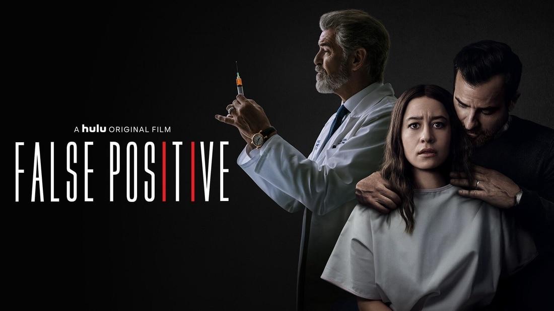 Title art for the horror movie False Positive on Hulu
