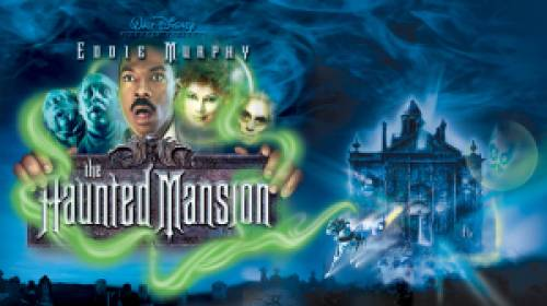 Title art for Disney's The Haunted Mansion.