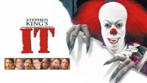 title art for Stephen King's It featuring a clown
