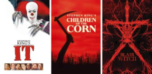 title art for classic horror movies on Hulu