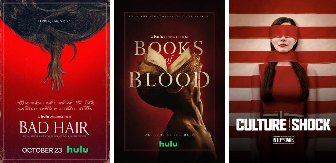 title art for Hulu Original Horror Movies