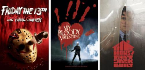 title art for slasher horror movies on Hulu