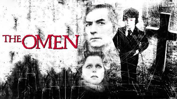 title art for the classic horror film, The Omen.