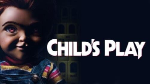 title art for the 2019 remake of Child's Play, featuring a modern Chucky doll.